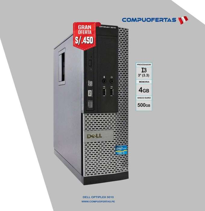 <strong>pc</strong> DELL OPTIPLEX 3010 CORE I3 (3RA.GEN.)