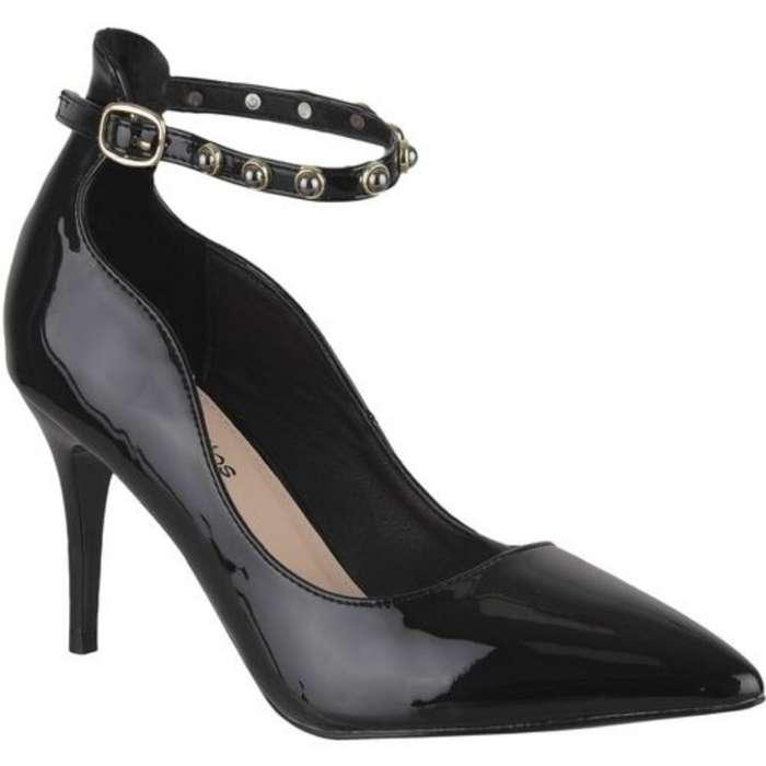 Zapatos Tacos Negros Elegantes