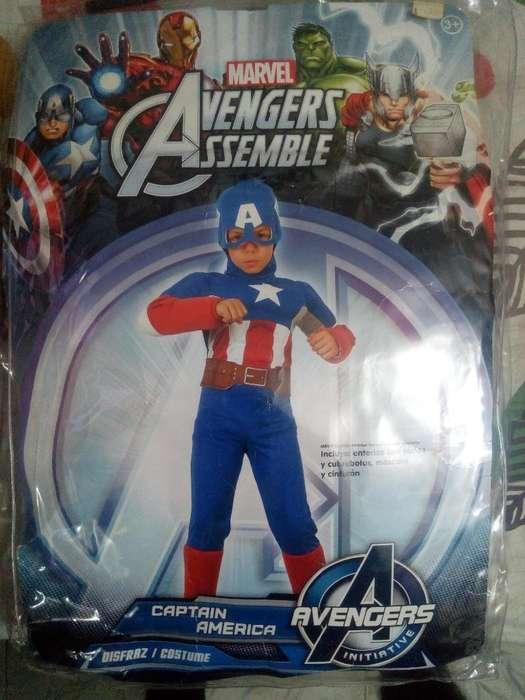 Disfraz de Capitan America Talla 4