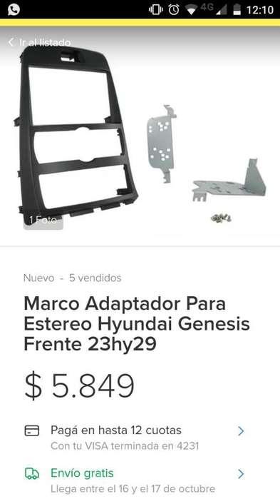 Marco Adaptador Estereo <strong>hyundai</strong> Génesis