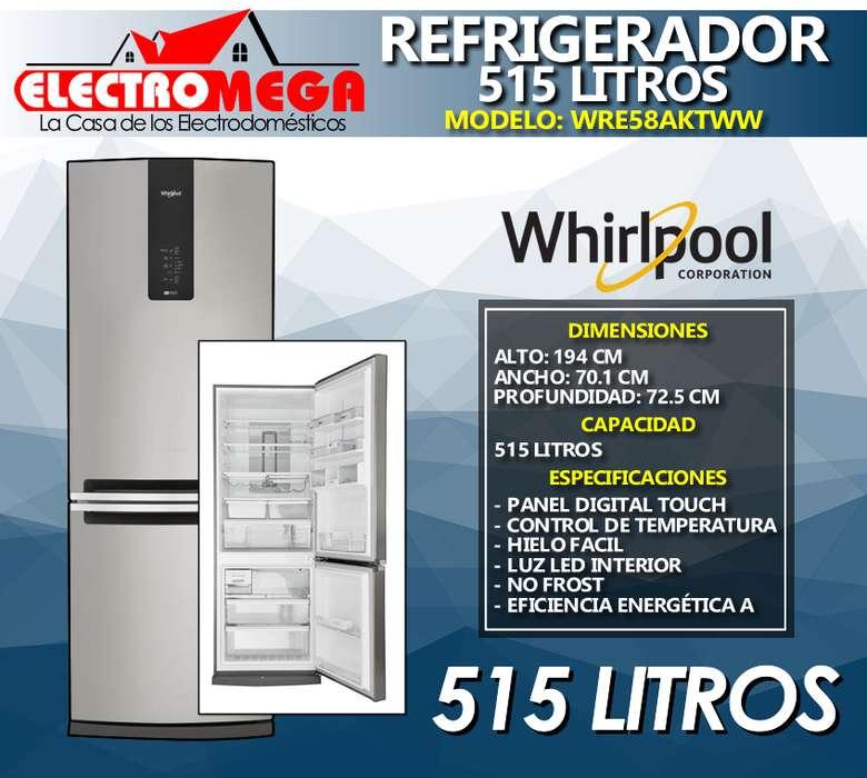 Refrigeradora Whirlpool 515l Con Panel Touch Wre58aktww