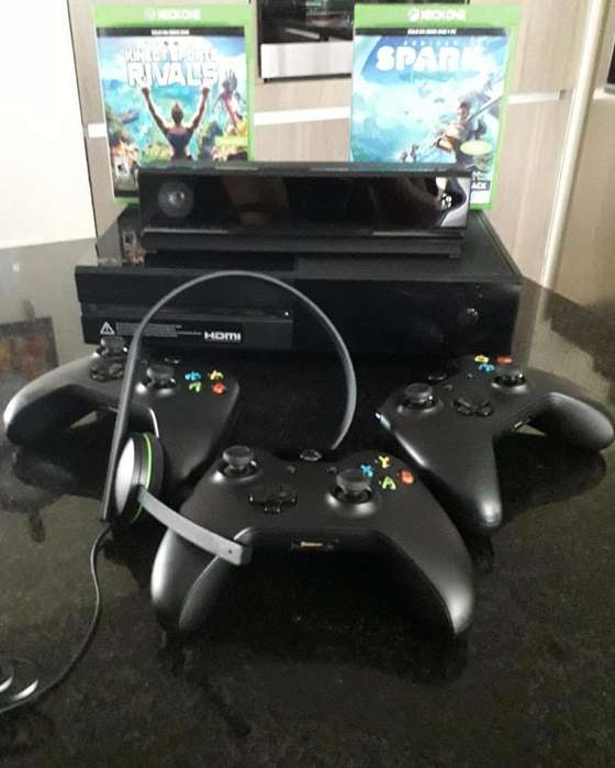 Xbox One 500 Gb Negro 3 Controles 2 Jueg