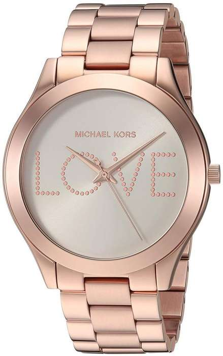 Reloj Mujer Michael Kors Slim Runway Love Oro Rorsa MK3804
