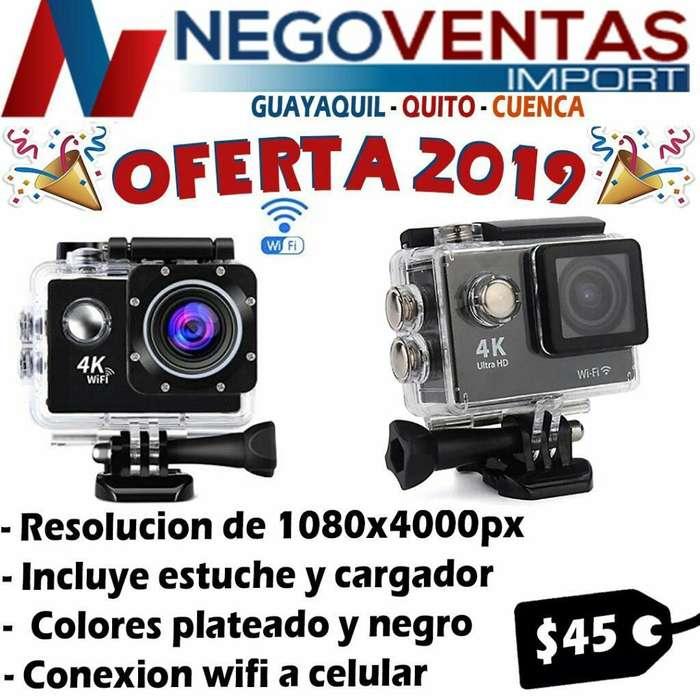 CAMARA GO PRO FULL HD CON ESTUCHE DE AGUA Y ACCESORIOS WIFI 720 PX