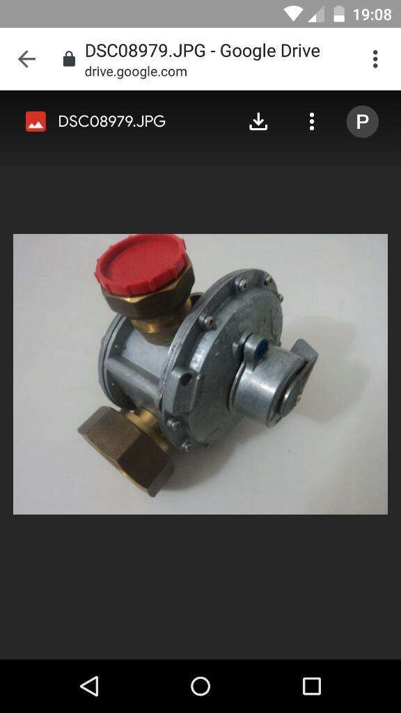 Regulador de Gas Fhiser 25 M3/h