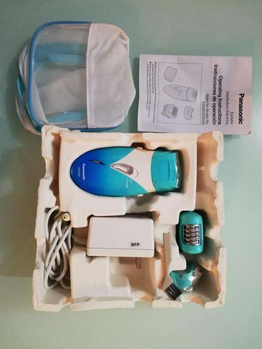 Panasonic es2029a depiladora sin cable 3 en 1 con protector de piel, aqua