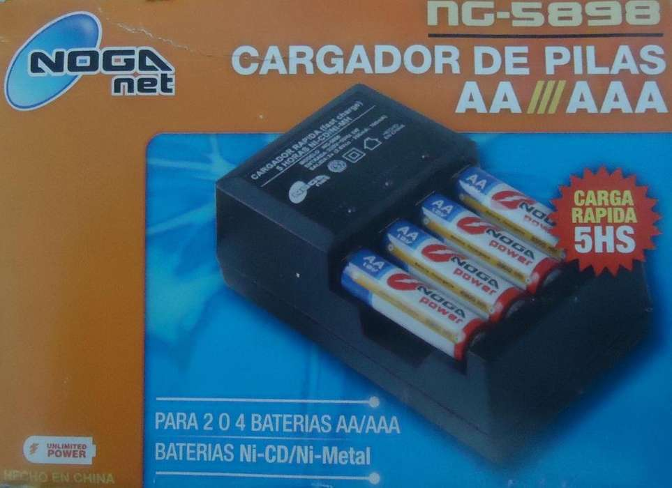 CARGADOR NOGANET NS 5898 PARA PILAS AA/ AAA