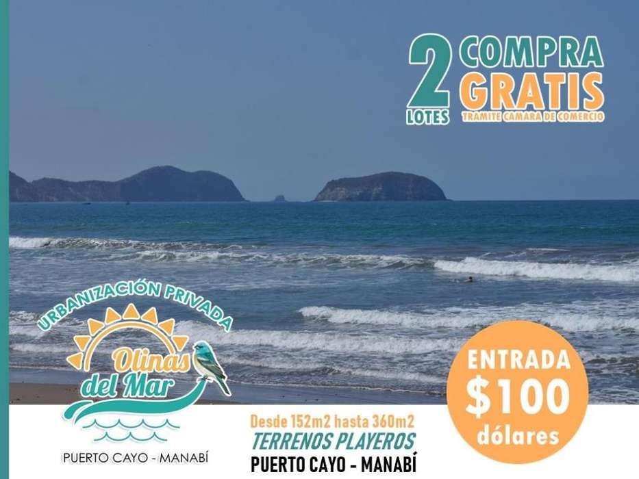 !!Solares Playeros¡¡ en Manabí en la playa de Puerto Cayo, Urbanización Privad Olinas del Mar, Facilidades de PagoS1
