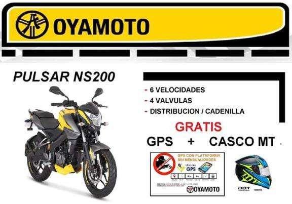 Moto Pulsar NS200 Gratis GPS <strong>casco</strong> MT