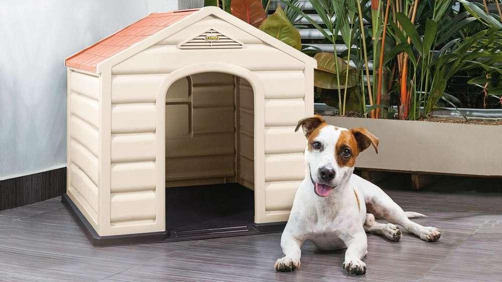 Casa Para Perros Pequeños Y Medianos De Plastico Rimax