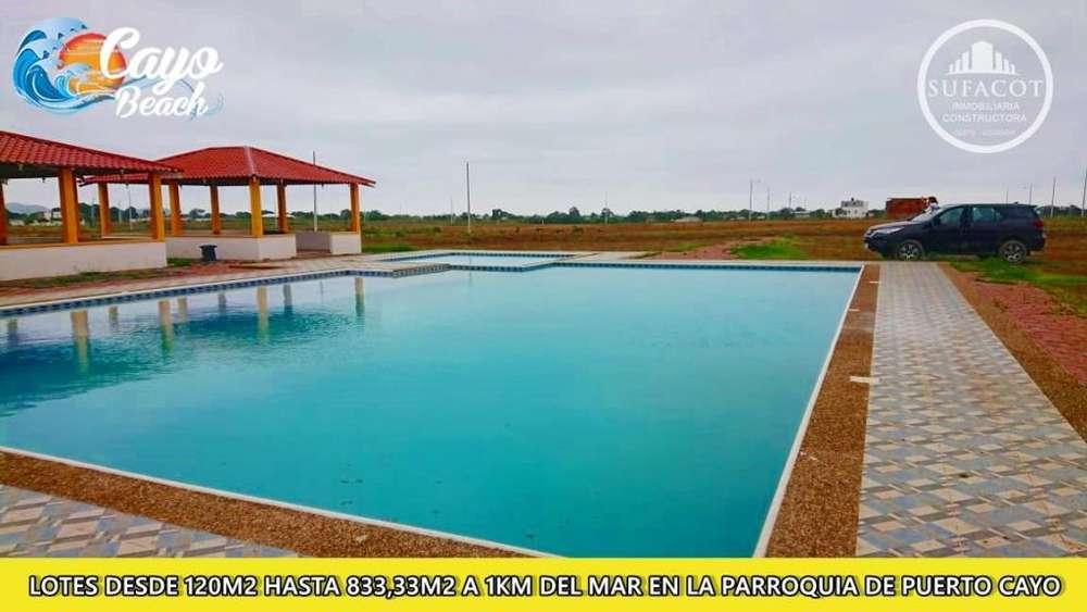 <strong>terreno</strong> en venta en Puerto Cayo Manabi 180 m2 a 5400