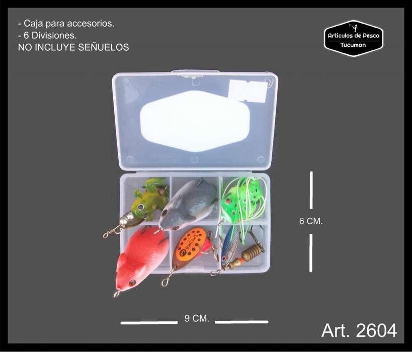 Caja plastica, gavetero. Para señuelos y accesorios 2604