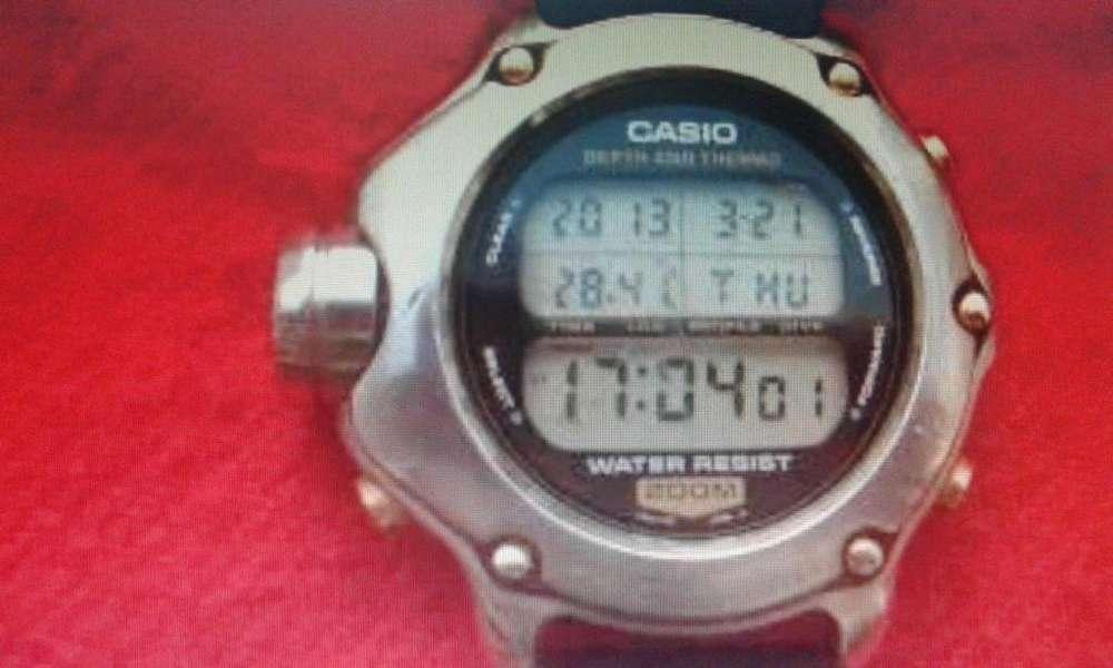 4e885f60752b RELOJ CASIO DEP 600 BUCEO PROFESIONAL ACERO  strong diver  strong  WR200