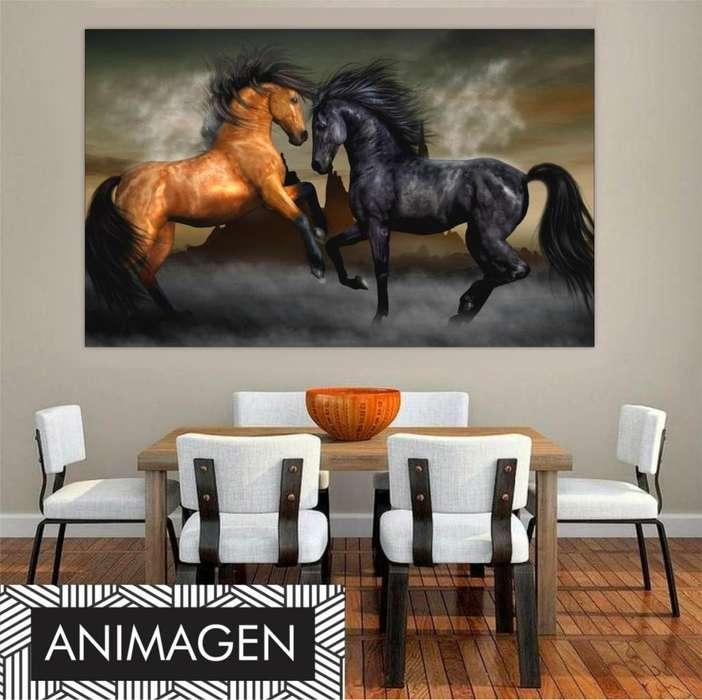 Cuadro decorativo de pareja de caballos 2385