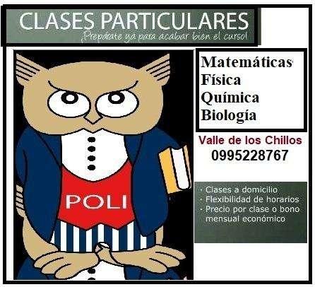Clases Matemáticas, biología, física, química, Valle de los Chillos