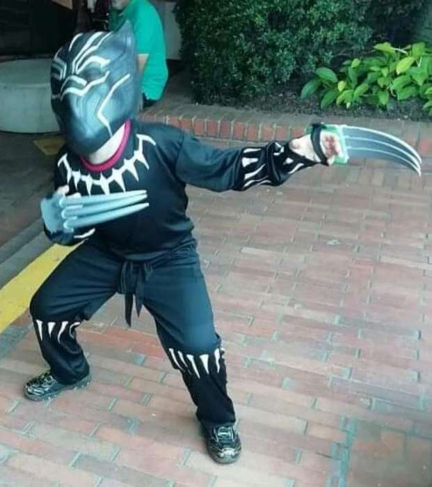 Vendo disfraces Pantera negra talla 10 dinosaurio talla 4araa T 6