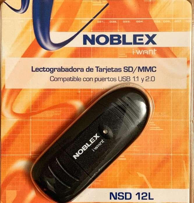 Lectograbadora De Tarjetas SD/MMC Usb 2.0 Noblex
