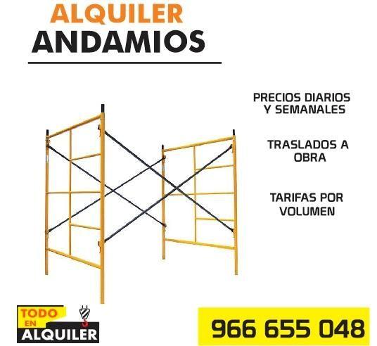 ALQUILER DE ANDAMIOS ESCALERAS 966 655 048