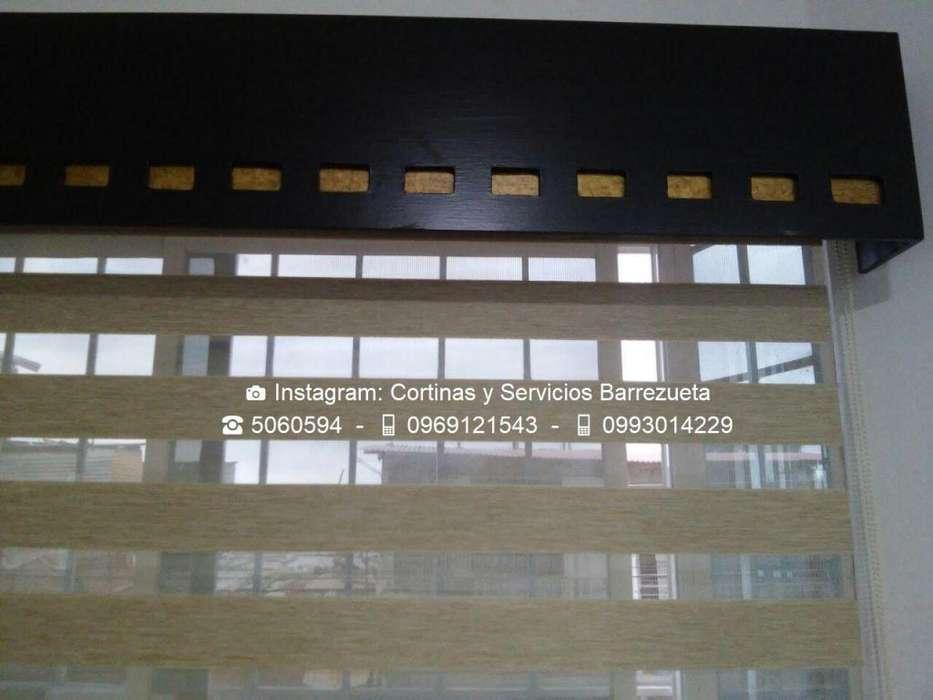 Persianas y Cortinas ZEBRAS para Sala con Cenefas Decorativas Diversos Modelos Tlfs: 0969121543 0993014229 5060594