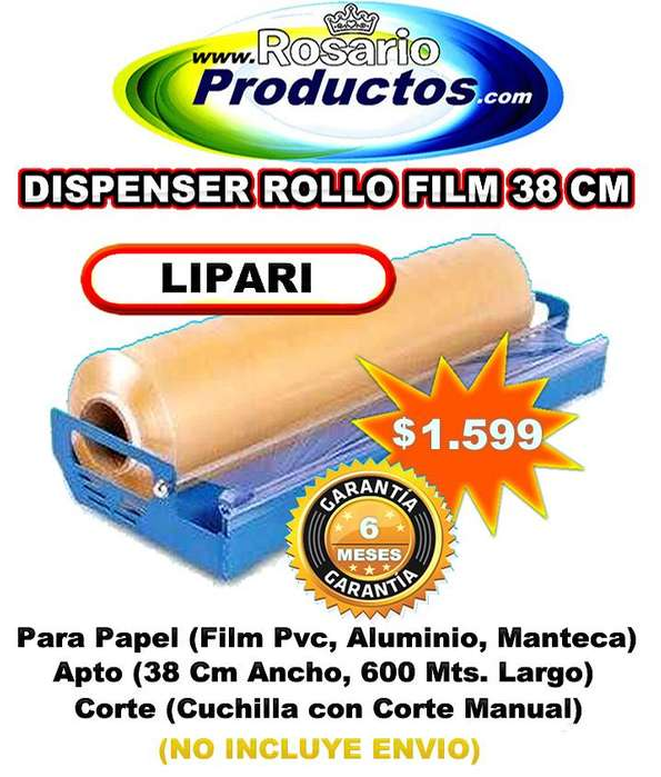DISPENSER DE ROLLO FILM 38 CM 6 MESES GARANTIA