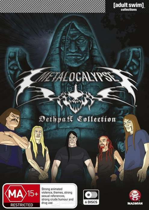 Metalocalypse (2006-2013) Serie completa, 5 Temporadas Extras 30.000 ENVÍO INCLUIDO