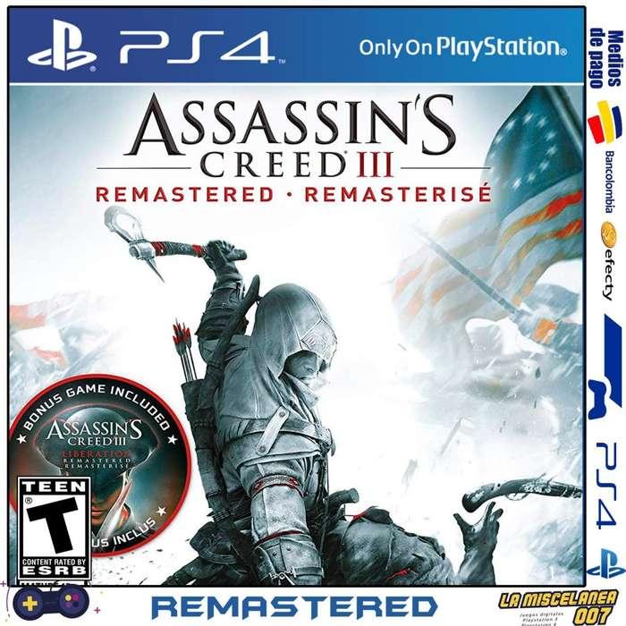 Assassins Creed 3 Remastered Ps4 Original