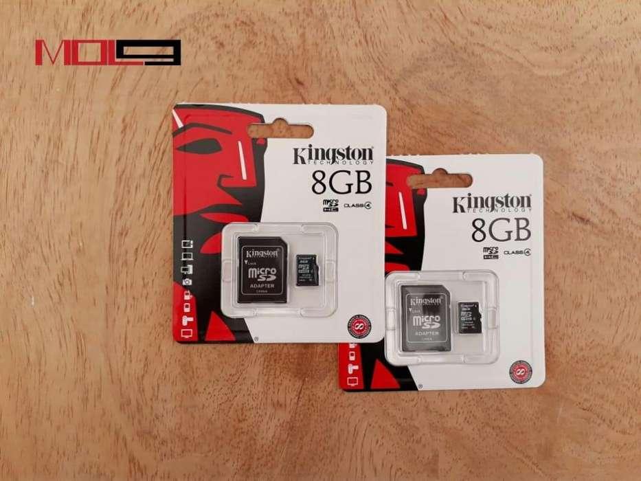 Memorias MicroSD 8GB Marca Kingston