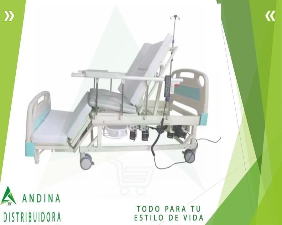Cama Hospitalaria Eléctrica 6-1 Porta Suero Urinario Silla
