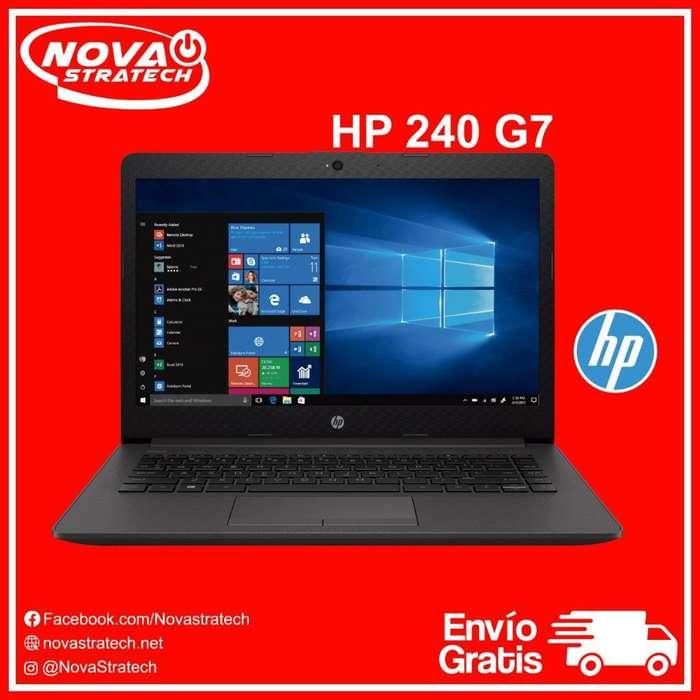 Laptop Nueva Hp 240 G7 Universitaria Super Rapida Economica De paquete Original Gratis Envio