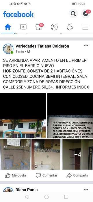 Arriendo <strong>apartamento</strong> Nuevo Horizonte