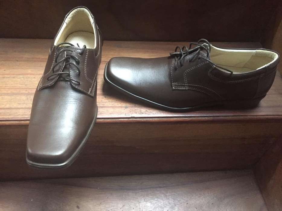 Zapatos de Vestir Nuevos Cafes Talla 41