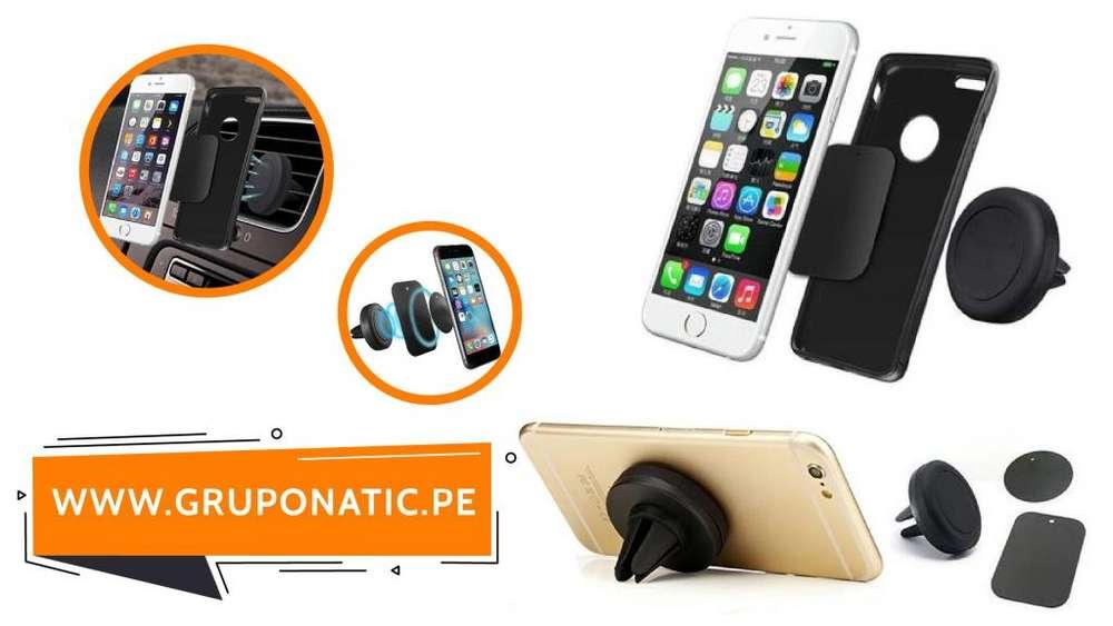 Soporte Imantado De Celular Para Auto Iphone Gruponatic San Miguel Surquillo La Molina Independencia 941439370