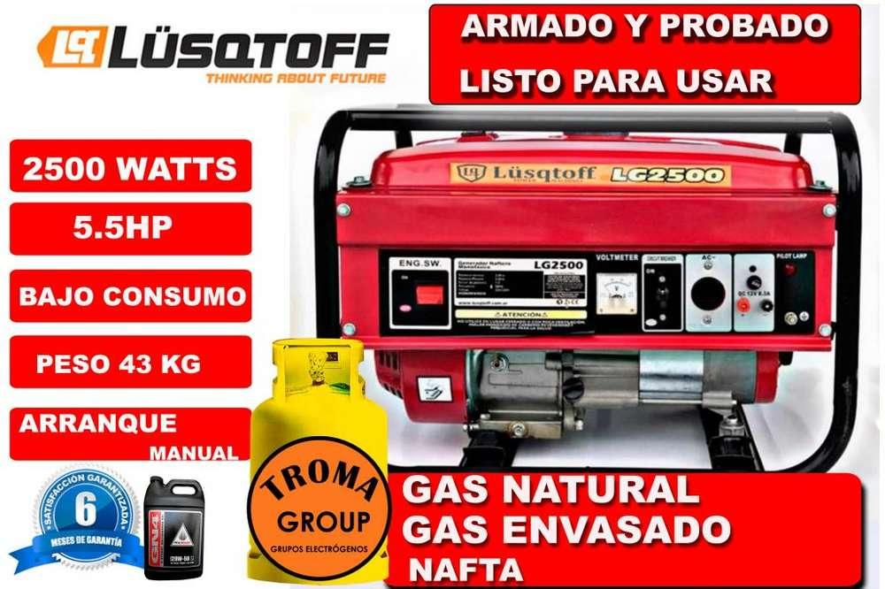 Grupo Electrogeno Lusqtoff 2500 Gas Aceite Honda.