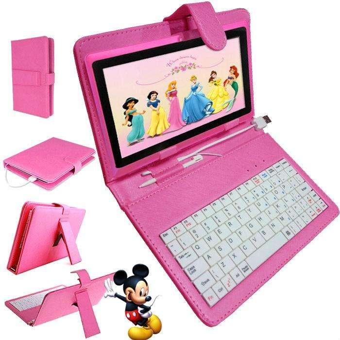TABLET CON TECLADO TIPO NETBOOK ANDROID 5.1 PANT 7 REDES SOCIALES JUEGOS RAM 1 GB ROM 8 GB DOBLE CAMARA NUEVAS GARANTIA