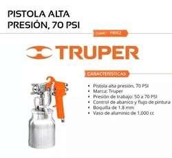 PISTOLA PARA PINTAR  TRUPER  PISTOLA DE PINTAR  1 LITRO