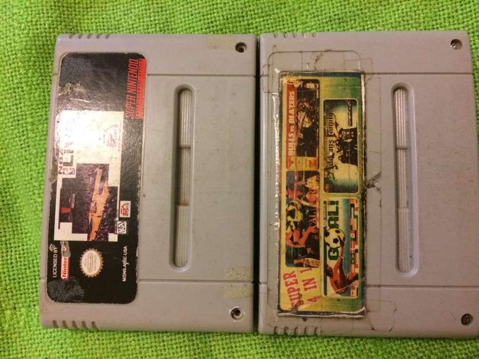 Super Nintendo Juego 4 en 1 Y Nba Video