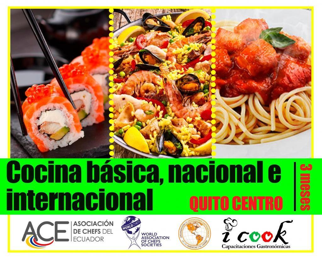 CURSO DE COCINA BÁSICA, NACIONAL E INTERNACIONAL EN QUITO A MEDIA CUADRA DE LA UNIVERSIDAD CENTRAL 100% PRÁCTICO