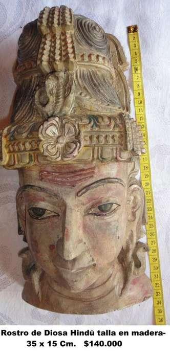 Dioses Hindú, tallados en madera, varios precios