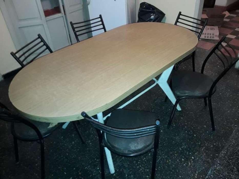 Mesa de Formica Y 6 <strong>silla</strong>s