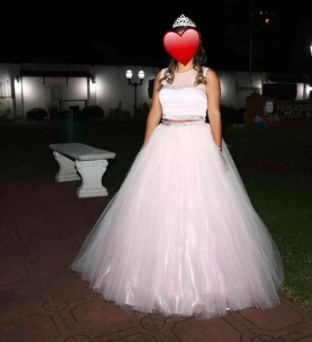 Vestido de 15 Años Rosa Bebe
