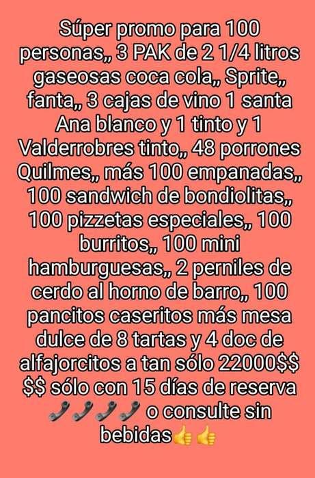 Catering para 100 O Mas