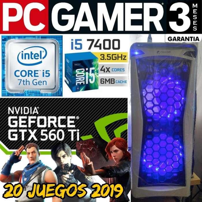 Pc Gamer Core I5 7400 Gtx 560ti 256 Bits Fortnite Alto 60fps