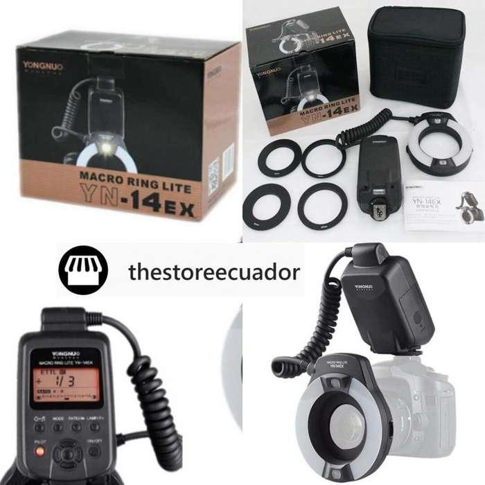 Macro Ring flash para Canon y Nikon Yongnuo Yn14exc