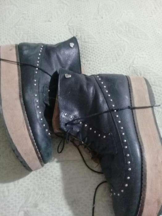 Borcegos Y Zapatos Charol Talle 37