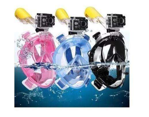 Careta de snorkel full face 180 con soporte para go pro Oferta