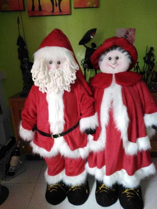 Linodos Papá Noel Y Mamá Noel