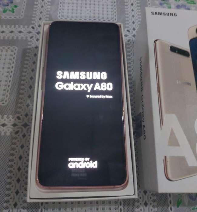 Vendo A80 Samsung Dorado de 128 Gb
