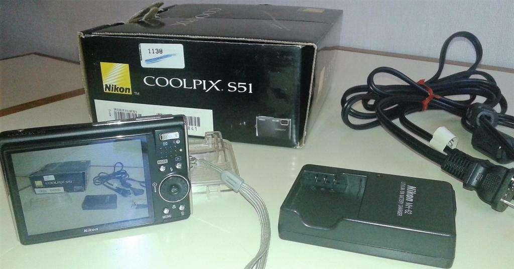 Nikon Coolpix S51 Accesorios completos Funcionando Impecable