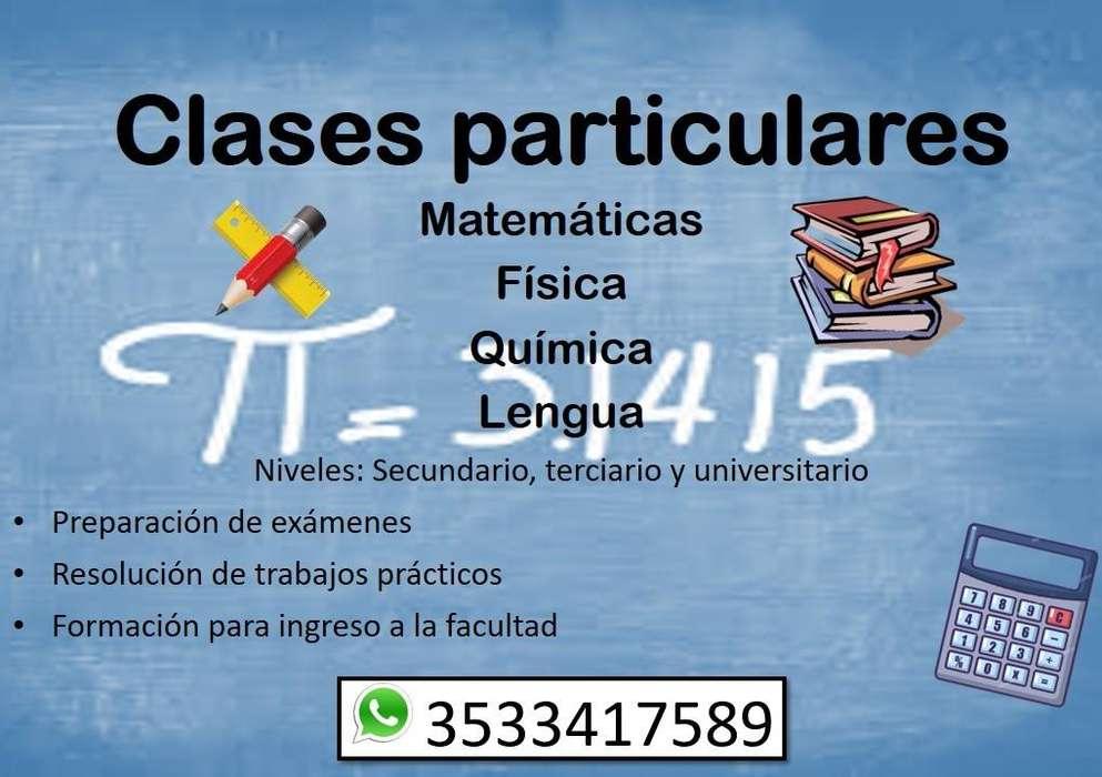 Clases particulares de Matemática, Física, Química y Lengua - Secundario