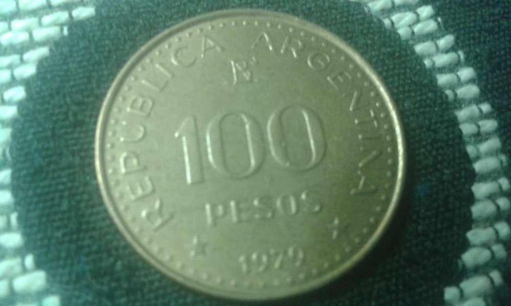 Moneda Argentina De 100 Pesos Año 1979 Conquista Desierto